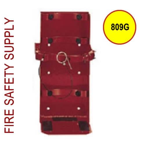 """Amerex 809G 10# Galvanized HD Bracket 5"""" Cylinder (red)"""