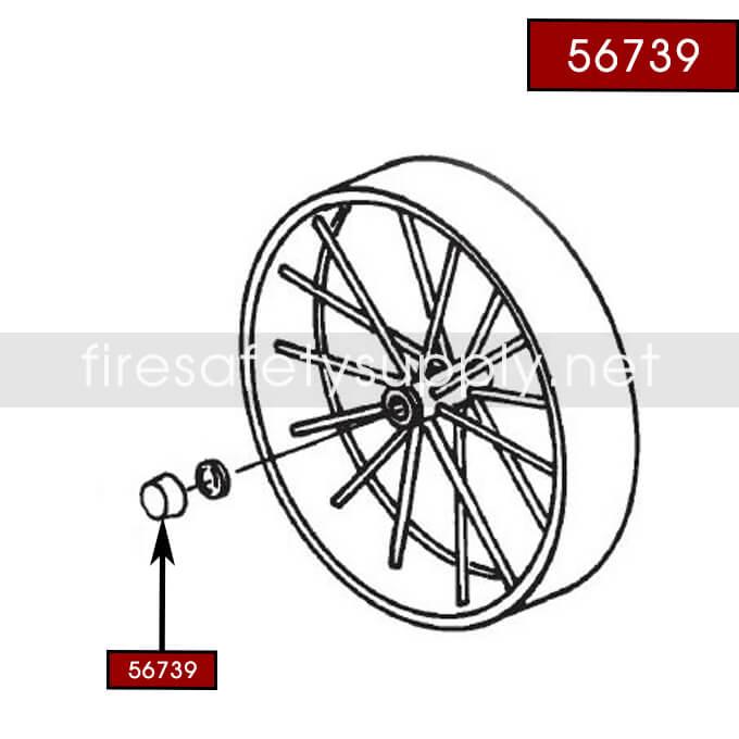 Ansul 24559 Quick-Connect Plug, Male (150, 350 Wheeled)