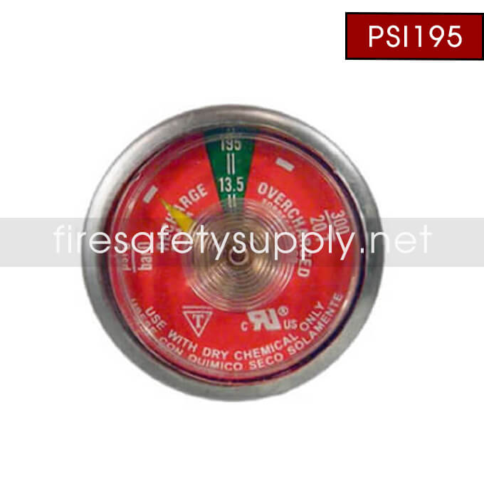 Ansul PSI195 Universal 195 PSI Dry Chemical Gauge