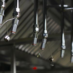 fire system sprinkler for commercial kitchen