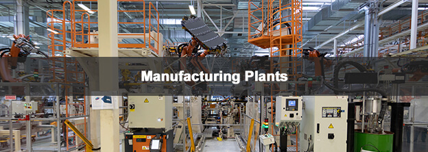 manufacturing plant with caption Manufacturing Plants