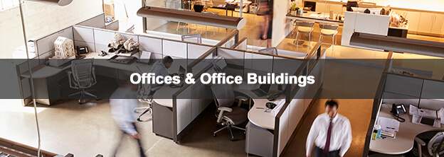 office cubicles with caption Offices & Office Buildings