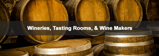 wine barrels with caption  Offices & Office BuildingsWineries, Tasting Rooms, & Wine Makers