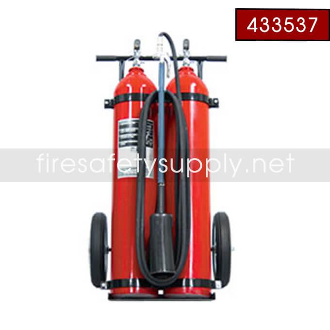 Ansul Sentry 433537 50 lb. Carbon Dioxide Wheeled Extinguisher