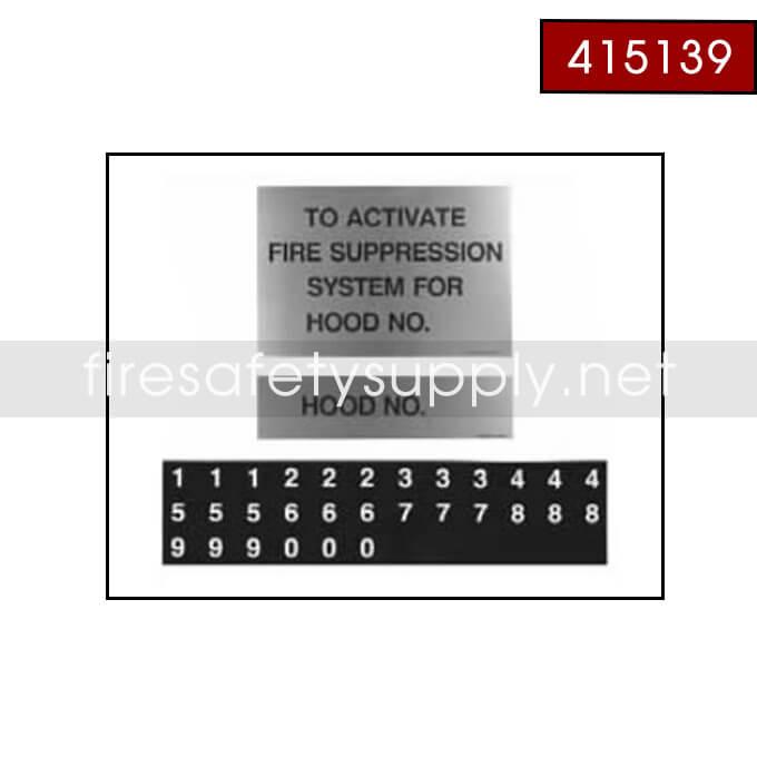 415139 Multiple Hood Label Package